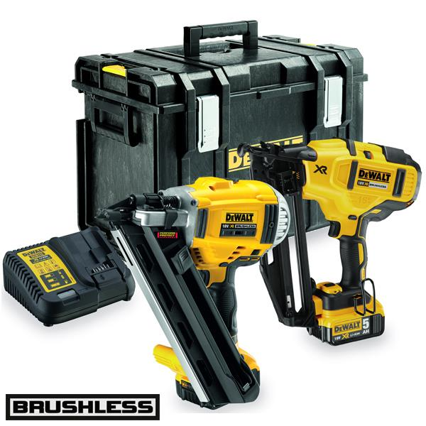 dewalt dck264p2 18v cordless nailer twin pack 2 x 50ah batteries
