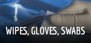 Cleanroom Wipes, Gloves & Swabs