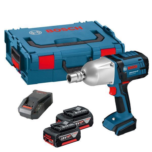 Bosch Gds 18 V Li Ht Volt Professional High Torque Impact Wrench 2 X 5 0ah Batteries