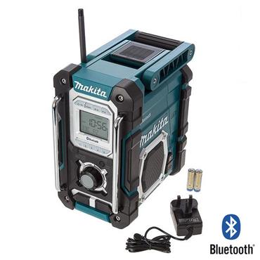 makita dmr106 7 2 18 volt jobsite radio with bluetooth. Black Bedroom Furniture Sets. Home Design Ideas