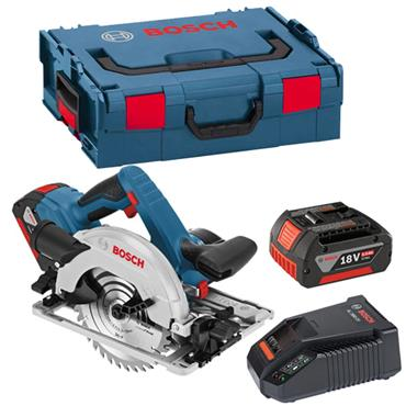bosch gks 18v 57 g professional 18 volt cordless circular saw 2 x 5 0ah batteries available. Black Bedroom Furniture Sets. Home Design Ideas