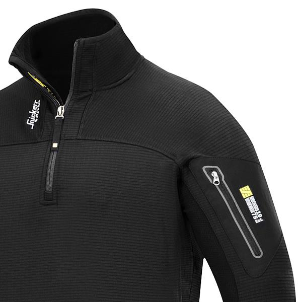 4847fa3c Snickers 9435 Body Mapping 1/2 Zip Micro Fleece Pullover - Black available  online - Caulfield Industrial