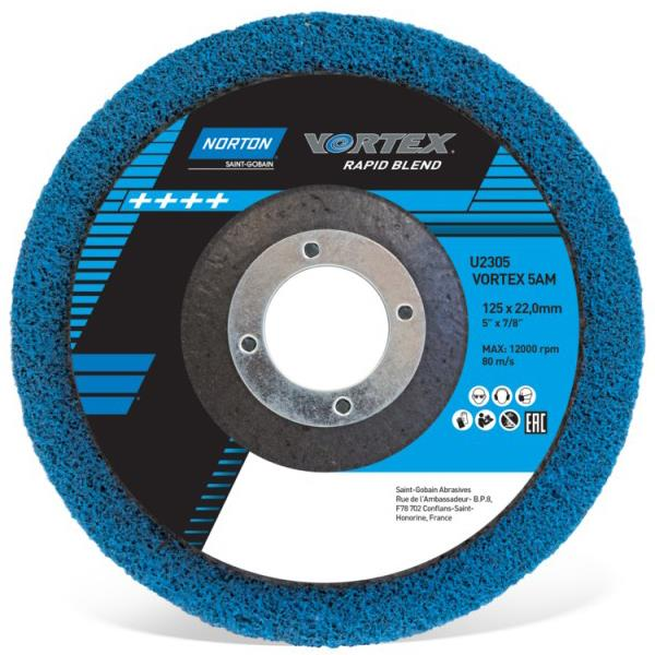 8e997c93513a Norton 115 x 22mm Vortex Rapid Blend Finish Disc - 66254429268 ...