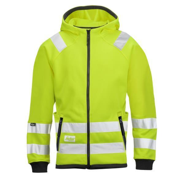 d58eab72 Snickers 8043 Class 3 High-Visibility Micro Fleece Hood Jacket - Yellow