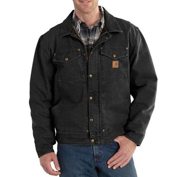 411e8eba0fc Carhartt 101230 Berwick Fleece-Lined Jacket - Black available online -  Caulfield Industrial